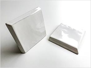 B2 - Zellige 10x10 con 2 bordes biselados y esmaltados